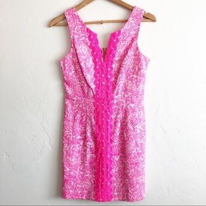 LILLY PULITZER • Pink and White Shift Dress • 2